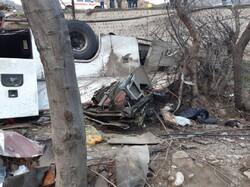 ۹ کشته و ۱۹ مصدوم در واژگونی اتوبوس در مبارکه اصفهان