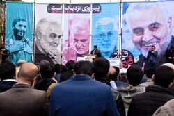 شہرضا میں شہید سلیمانی کی یاد میں عظيم اجتماع