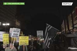 Anti-war protesters hold rally in several US cities