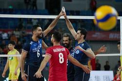 دیدار تیم ملی والیبال ایران و چین