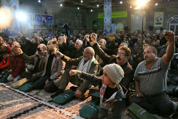 برگزاری مراسم یادبود سردار شهید سلیمانی در مصلای نماز جمعه کاشان