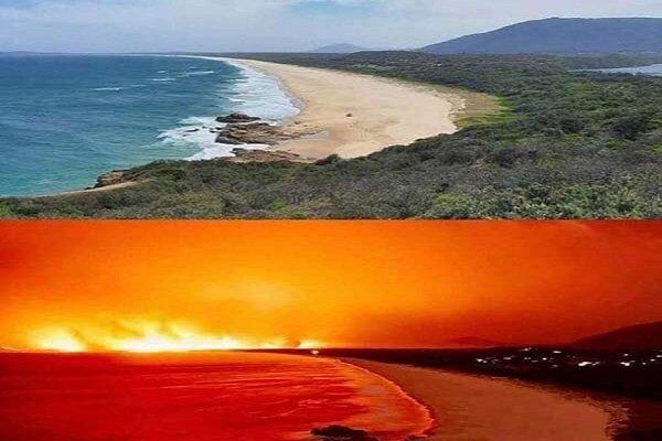 تصاویر ماهواره ای از آتش سوزی های گسترده استرالیا