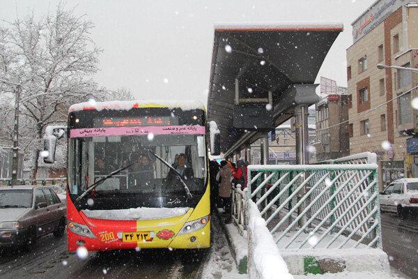 اجرای طرح زمستانی شرکت واحد اتوبوسرانی