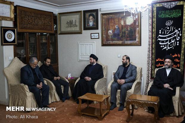 Senior Iraqi cleric leader Hakim visits family of martyr Gen. Soleimani