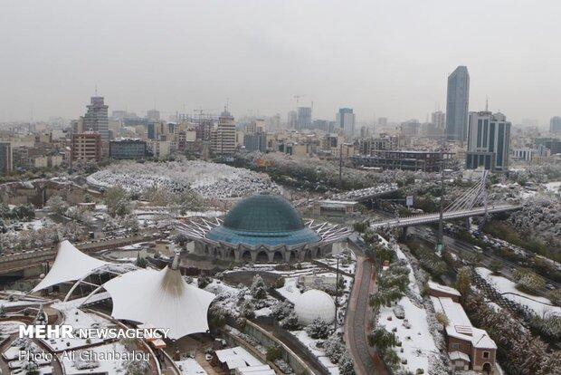 چهره برفی تهران