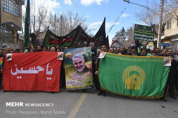 مراسم راهپیمایی و بزرگداشت شهادت سردار شهید سلیمانی در شهرضا