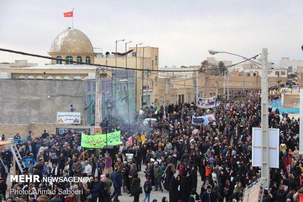 مراسم راهپیمایی و بزرگداشت شهادت سردار شهید سلیمانی در سمنان