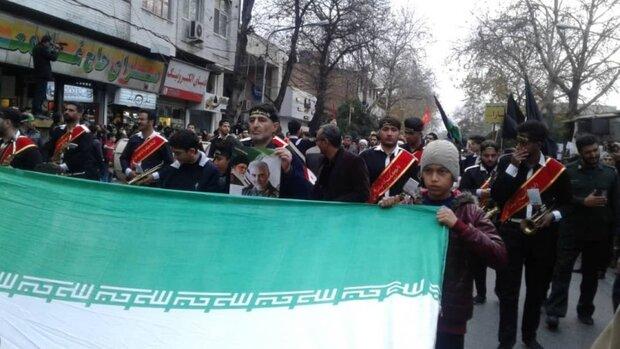 اجتماع بزرگ مردمی «سلیمانی ها» و دسته روی در مازندران