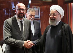 Hassan Rouhani and Charles Michel