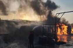 آتشسوزی در مرکز معاینه فنی خودروهای سبک ایوانکی مهار شد