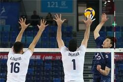 شکست تیم ملی والیبال ایران برابر کره در ست چهارم
