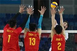 تیم والیبال چین با غلبه بر قطر حریف ایران در فینال شد