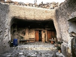A typical cave residence in the UNESCO-registered village of Maymand, southeast Iran