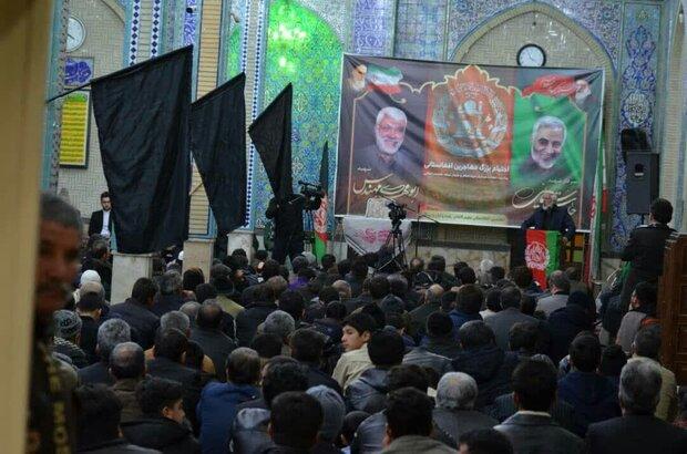 برگزاری مراسم یادبود شهدای مقاومت توسط اتباع مقیم کاشان+تصاویر