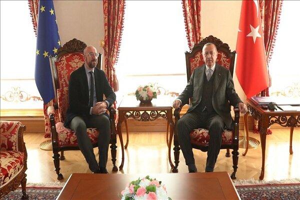 اردوغان با رئیس شورای اروپا دیدار کرد
