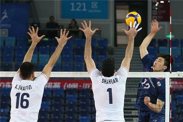 پیروزی تیم ملی والیبال ایران برابر کرهجنوبی/ یک پیروزی تا المپیک