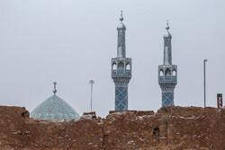 هطول الثلج في مدينة يزد / صور