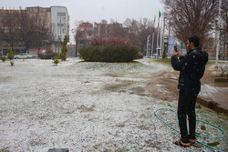 یزد میں بارش اور برف باری