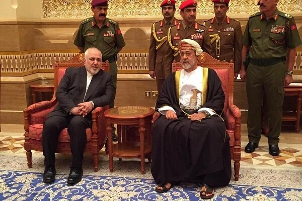 Iran's Zarif meets with Oman's new Sultan in Muscat