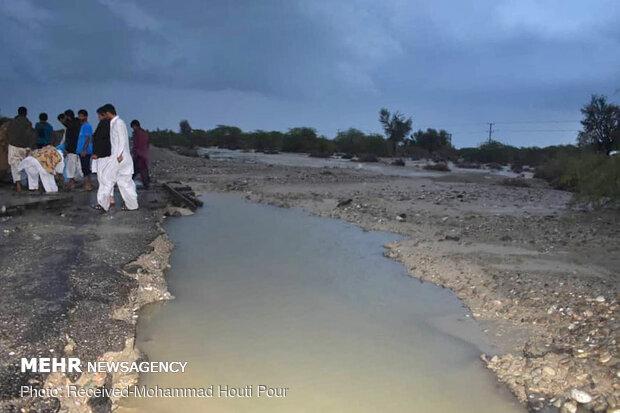 سیلاب در زرآباد بلوچستان