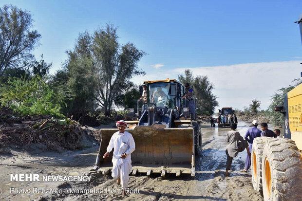 وضعیت سیل زدگان زرآباد بلوچستان