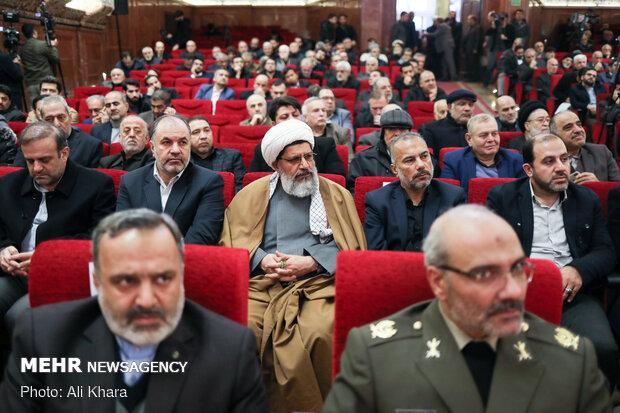 حجت الاسلام شیرازی نماینده ولی فقیه در نیروی قدس سپاه در بزرگداشت سپهبد شهید قاسم سلیمانی و همرزمانش