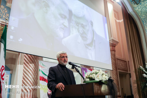 سخنرانی سعید جلیلی در بزرگداشت سپهبد شهید قاسم سلیمانی و همرزمانش