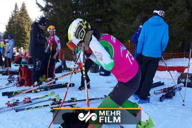 آرتمیس حسینی در اسکی آلپاین