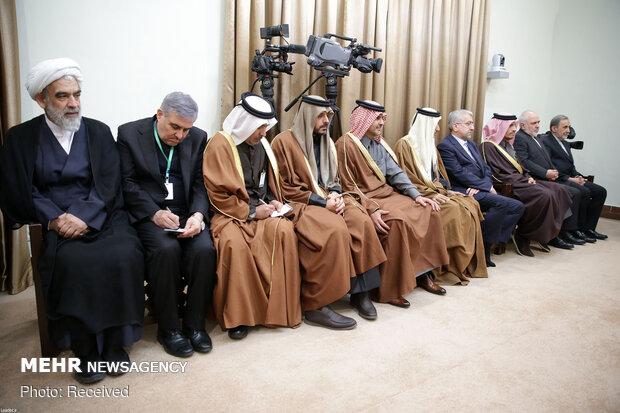 قائد الثورة الإسلامية يستقبل أمير قطر