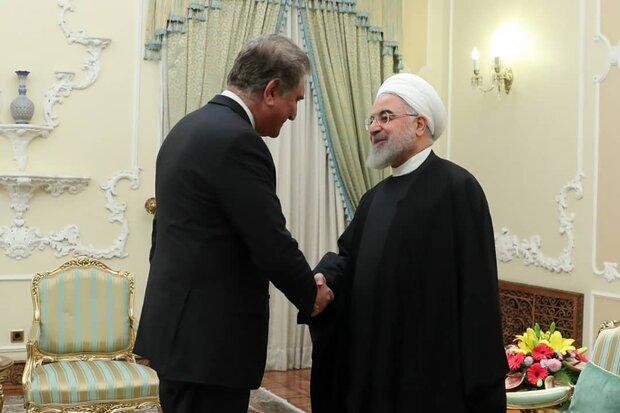 وزیر خارجه پاکستان با روحانی دیدار کرد