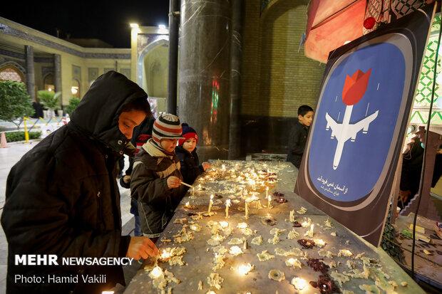 مراسم گرمیداشت جانباختگان سانحه هوایی بوئینگ اوکراینی
