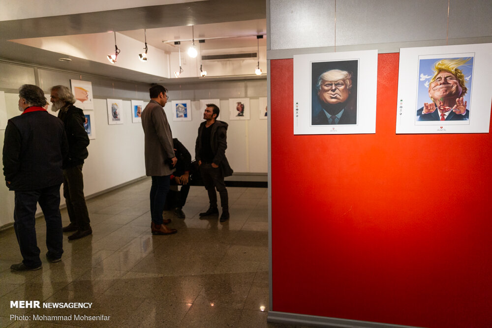 Cartoon exhibition 'Trumpism' held in Tehran