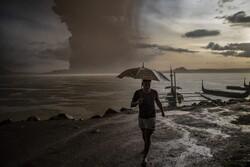 فوران آتشفشان در فیلیپین