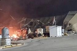تروریستهای آمریکائی در حال آواربرداری در پایگاه عین الاسد هستند