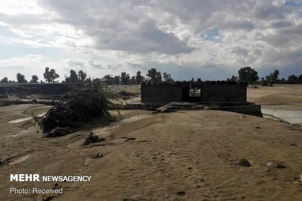 مناطق سیل زده بلوچستان