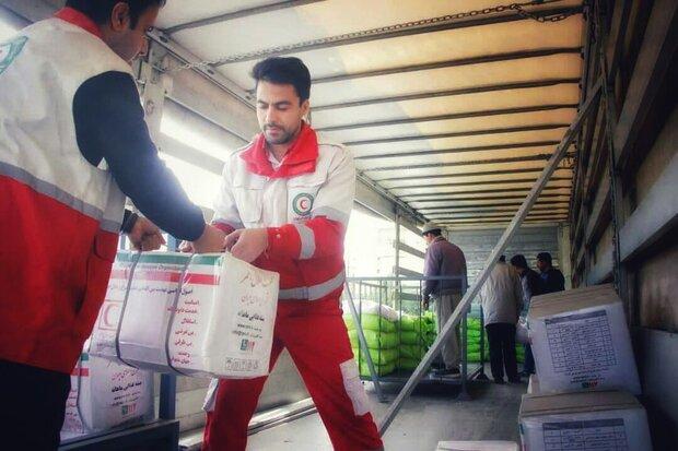 کمک هلال احمر استان فارس به مناطق سیل زده جنوب