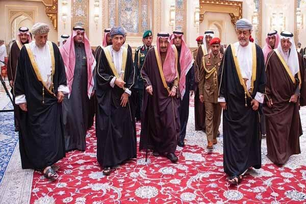 اولین دیدار ملک سلمان با سلطان جدید عمان