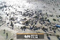 ہرمزگان میں حالیہ سیلاب کی ہوائی تصویریں