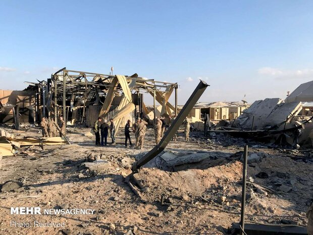 US Ein al-Asad military base after Iran's missile attack