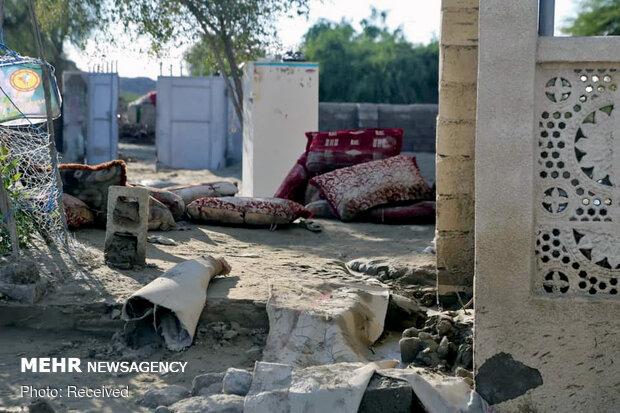 وضعیت روستاهای سیل زده شهرستان جاسک