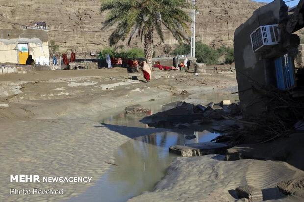 مشاهد المناطق المنكوبة بالسيول في محافظة سيستان وبلوشستان