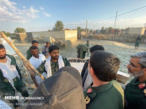 امداد رسانی به روستاهای سیل زده شهرستان جاسک