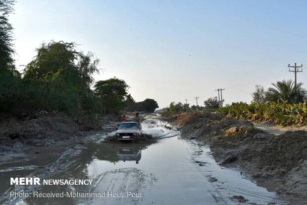 زرآباد پس از فروکش کردن سیلاب
