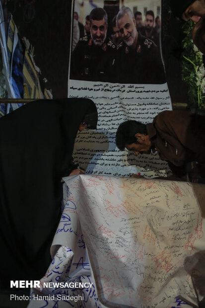 هفتمین روز شهادت سپهبد سلیمانی در گلزار شهدای کرمان