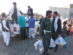 امداد رسانی نیروهای امدادی به مناطق سیل زده جاسک و چابهار