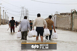 سیستان  اور بلوچستان میں سیلاب سے متاثرہ علاقوں میں غذائی امداد کی فراہمی