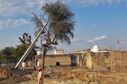 خسارت سیل به زیرساخت های روستاهای جاسک