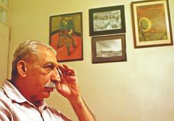 Iranian writer Nader Ebrahimi.