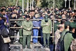 گرگان میں ہوائی حادثے کے 3 شہداء کی تشییع جنازہ