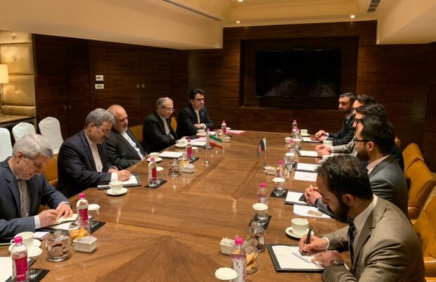 FM Zarif meets with Afghan security adviser in New Delhi